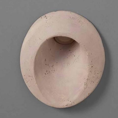 Applique d'extérieur ovale en terre cuite de couleur ovale - Toscot
