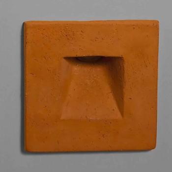 Applique extérieure carrée, terre cuite colorée Square - Toscot