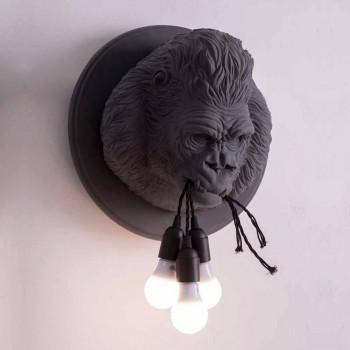 Applique murale à 3 lumières au design Gorilla Ceramic Grey ou White - Rillago