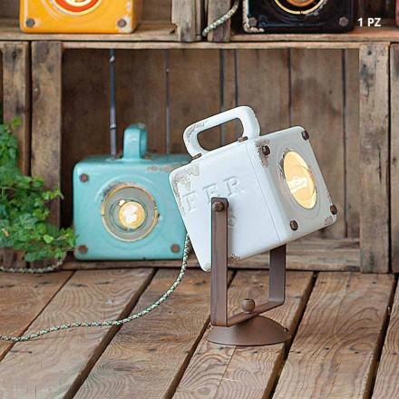 Applique stile vintage-industriel en céramique et fer Julia