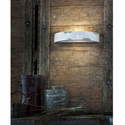 Mur croissant cru en céramique Helen Ferroluce