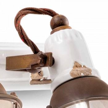 conception Applique et trois spots en céramique et métal Lacey