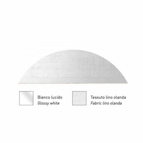 Applique murale design en métal finition argent ou blanc Made in Italy - Jump