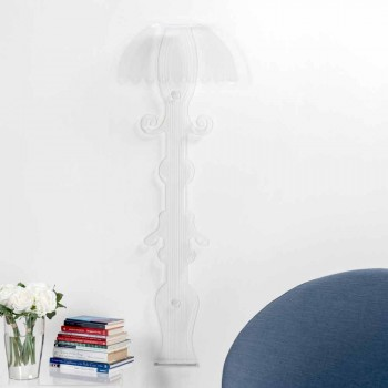 Applique design en plexiglas transparent produite en Italie, Scilla