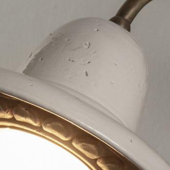 Applique d'extérieur en Galestro et métal fait main en Italie - Toscot Spoleto