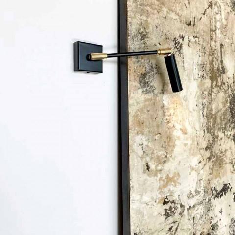 Applique artisanale en fer et aluminium noir mat Made in Italy - Velina