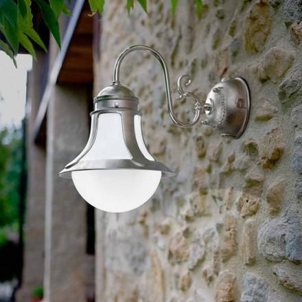 Applique de design en laiton et verre Loggia par Aldo Bernardi