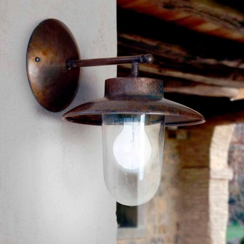 Applique La Traviata cuivre, verre et laiton antique