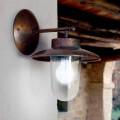 Applique La Traviata en cuivre, verre et laiton veilli