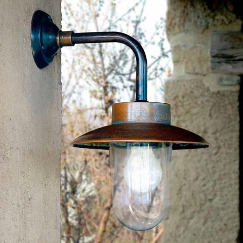 Nabucco applique, lampe de mur, cuivre, verre, laiton