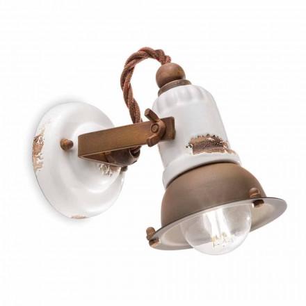 Applique spot orientable en céramique et métal Kendra Ferroluce