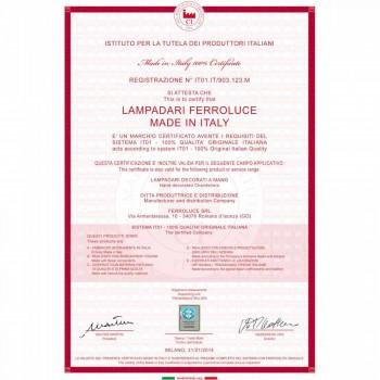 Applique rustique en céramique blanche décorée Ferroluce Treviso
