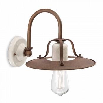 Applique en métal de style industriel et céramique Ferroluce
