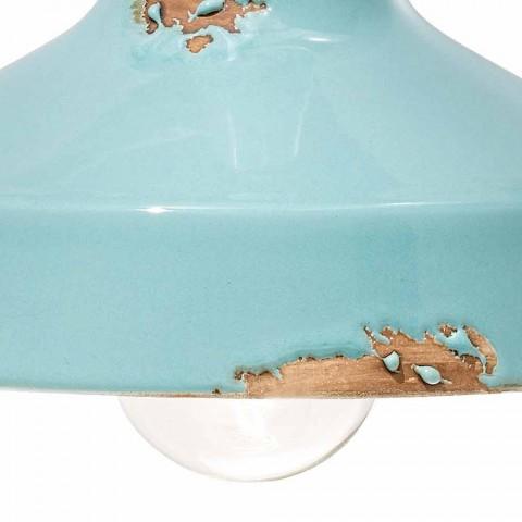 Applique Vintage artisanal de projecteur en céramique Sandra Ferroluce