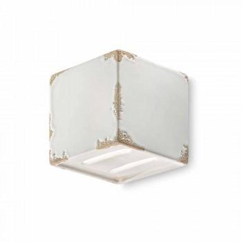 Vintage Applique cube en céramique en forme de Connie Ferroluce