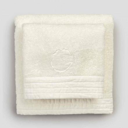 Serviettes pour le visage et les invités en mélange éponge et lin 2 couleurs, 2 pièces - Kilim