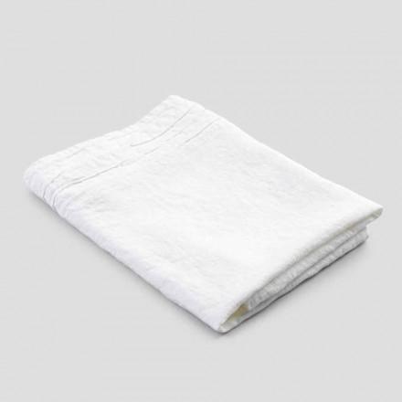Serviette de bain italienne de luxe en lin épais blanc - Jojoba