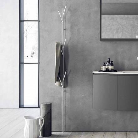 Porte-manteau de sol design moderne en métal blanc ou chromé - Kottac