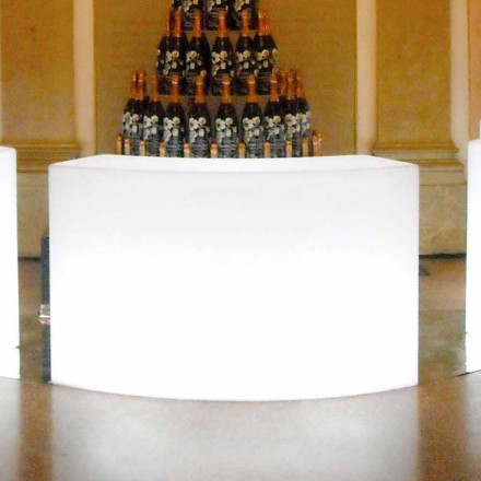 Comptoir de bar de jardin lumineux modulaire Slide Snack Bar, fabriqué en Italie