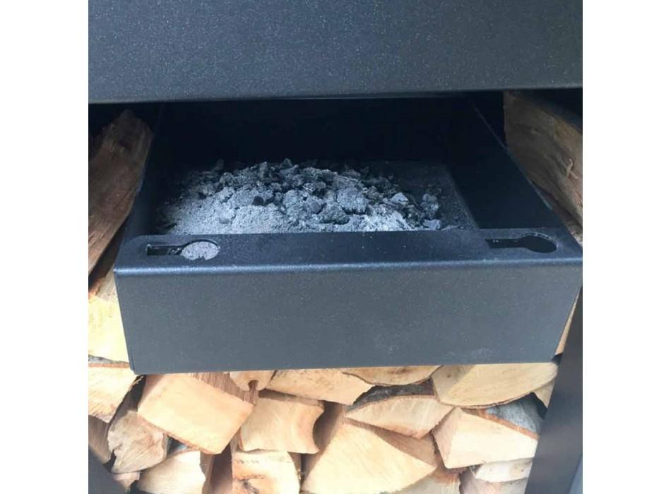 Barbecue au bois avec plaque de cuisson et compartiment à bois - Giorgione
