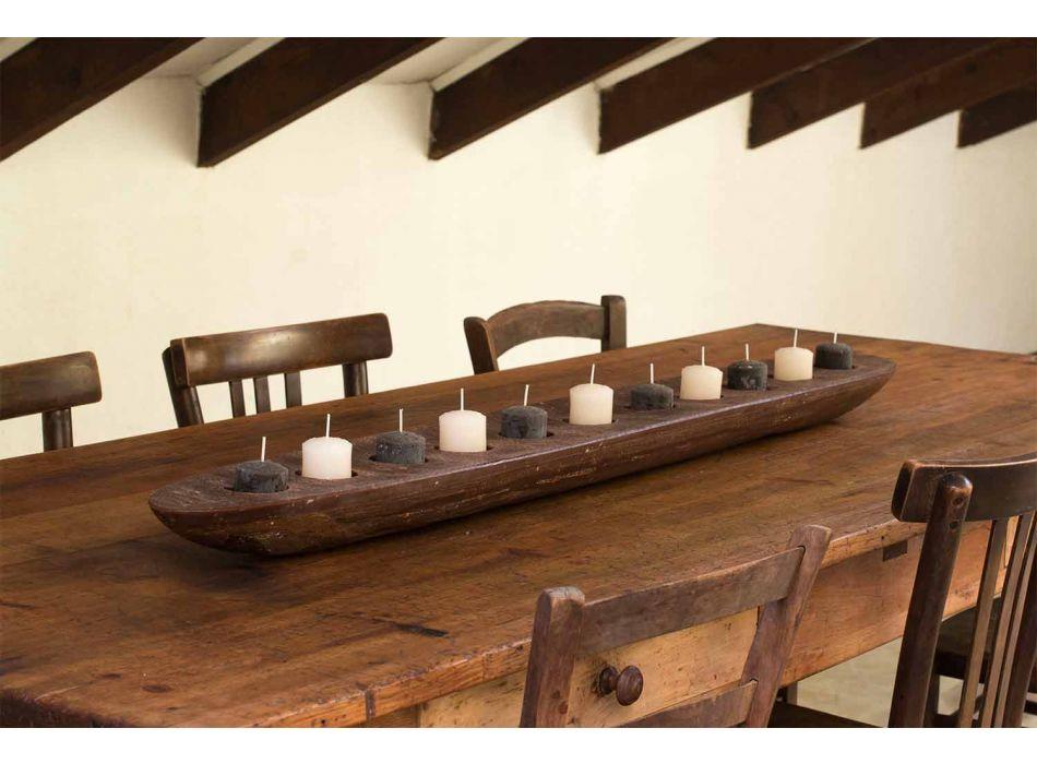 Bateau en cire avec lumières marron ou ivoire y compris Made in Italy - Ludvig