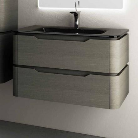 Design moderne suspendu évier base 85x55x55cm Arya laqué bois