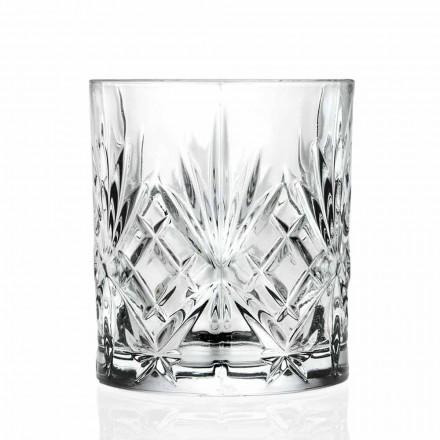 Double verre à l'ancienne, cristal écologique de style vintage 12 pièces - Cantabile