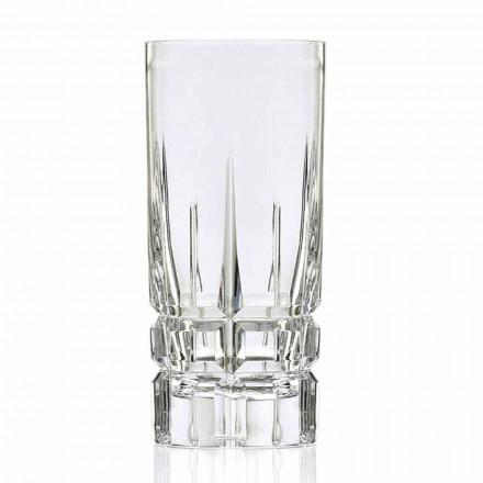Verre à cocktail Highball Verre haut 12 pièces en cristal écologique - Fiucco