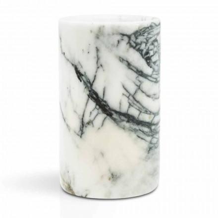 Porte-brosse à dents en verre en marbre Paonazzo Made in Italy - Limba