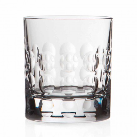 Double verres à whisky en cristal à l'ancienne 12 pièces - Titanioball