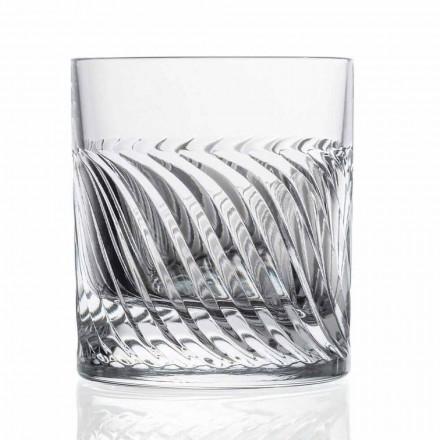 Verres à whisky de luxe Eco Crystal DOF Design 12 pièces - Arythmie