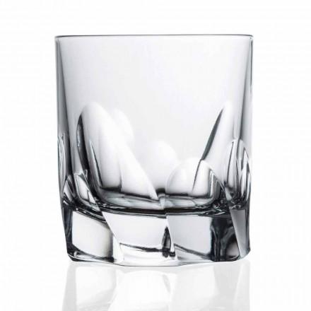 Verre Cristal Décoré Whisky ou Eau 12 Pièces Dof Design - Titane