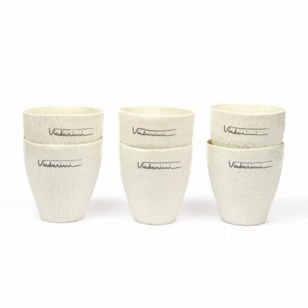 Verres en porcelaine blanche design de luxe 6 pièces uniques - Arcireale