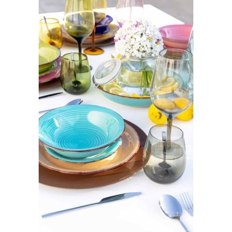 Gobelets en verre coloré pour service moderne de l'eau de 12 pièces - Aperi