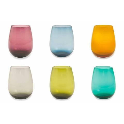 Gobelets en verre coloré pour service moderne de l'eau de 6 pièces - Aperi
