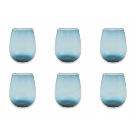 Verres à eau en verre moderne et coloré Service de 12 Pièces – Aperi
