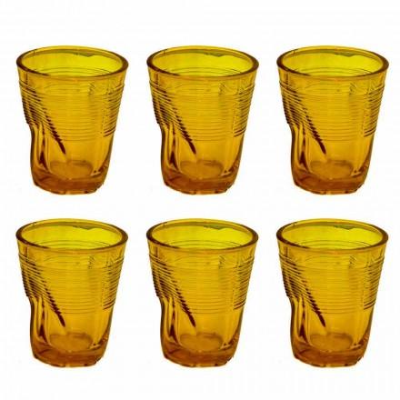 Verres à eau en verre coloré moderne 12 pièces de design - Sarabi