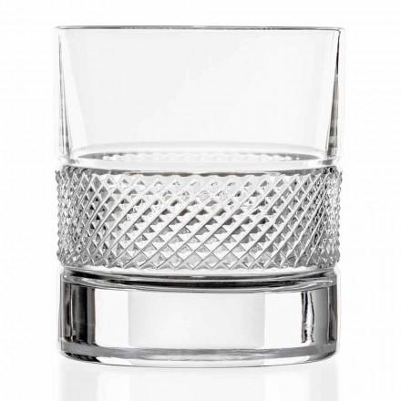 Verres à verre bas en cristal écologique avec décoration de luxe 12 pièces - Milito