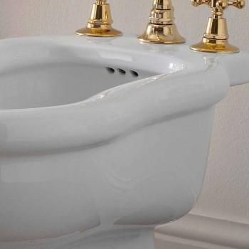 Bidet Blanc Design Classique en Céramique Blanche Fabriqué en Italie - Paulina