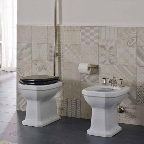 Bidet en céramique blanche de style vintage fabriqué en Italie - Nausica