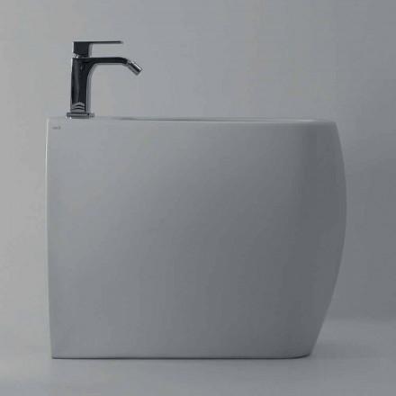 Bidet au design moderne en céramique blanche Gais, fabriqué en Italie