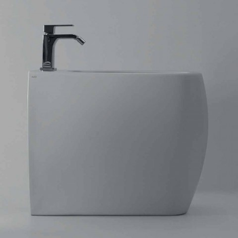 Bidet en céramique blanche au design moderne Gais, fabriqué en Italie