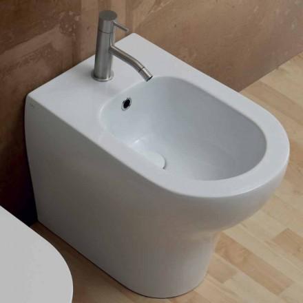Bidet au design moderne en céramique blanche Star 54x35 cm, fabriqué en Italie