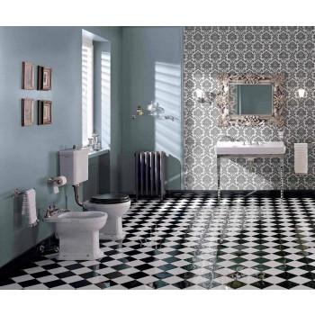 Bidet en céramique classique blanche ou noire du sol Made in Italy - Marwa