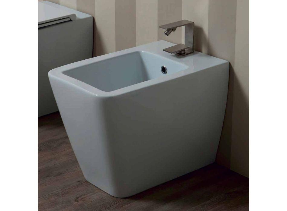 Bidet en céramique blanc design moderne Sun 55x35 cm fabriqué en Italie