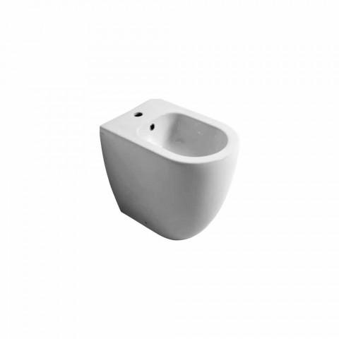 Bidet en céramique au design moderne Shine Square Open Sans monture H50 cm