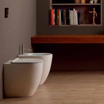 Bidet au design moderne en céramique Shine Square Open Rimless H50 cm