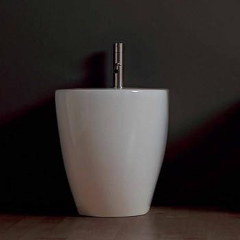 Bidet en céramique moderne Shine Square sans monture 54x35cm fabriqué en Italie