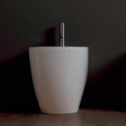 Bidet en céramique moderne Shine Square Rimless 54x35cm fabriqué en Italie