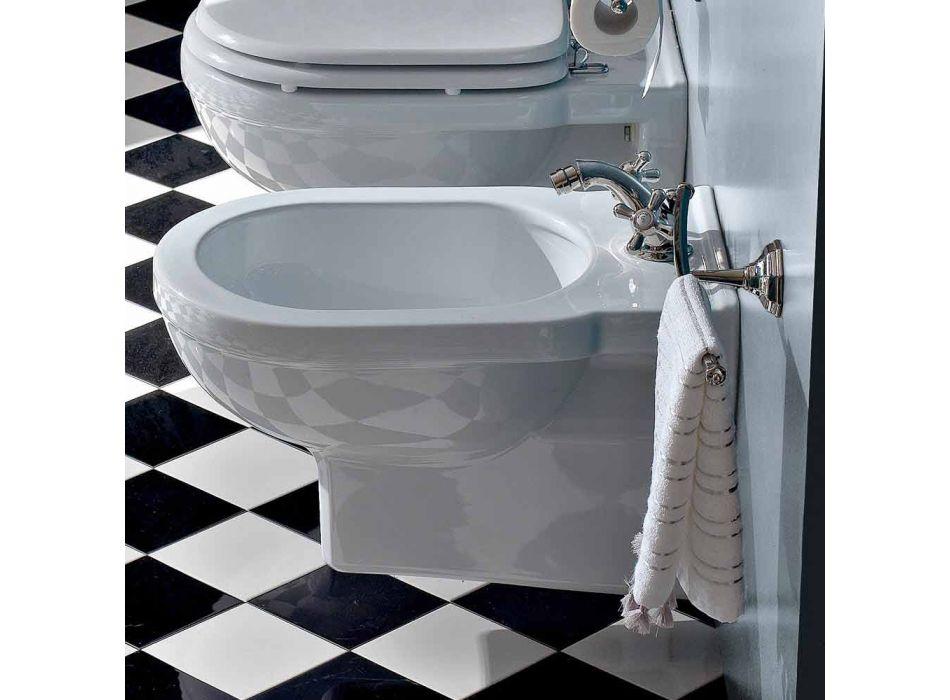 Bidet monotrou classique en céramique blanche fabriqué en Italie - Marwa